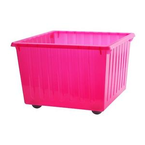 VESSLA Storage crate with castors,pink