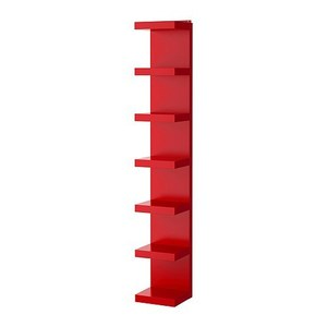 LACK Wall shelf unit, red 당일발송
