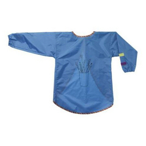 MALA Apron with long sleeves, 유아용 미술 앞치마,blue