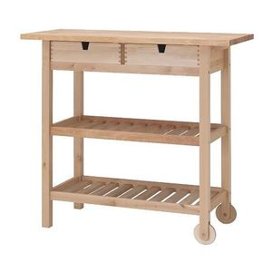 FORHOJA Kitchen trolley, birch 이케아 정품
