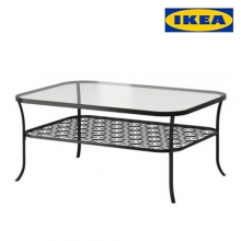 [IKEA] KLINGSBO Coffee table, black, clear glass ,401.615.57,테이블/커피테이블