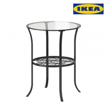[IKEA] KLINGSBO Side table, black, clear glass, /테이블/협탁/사이드테이블/201.615.58