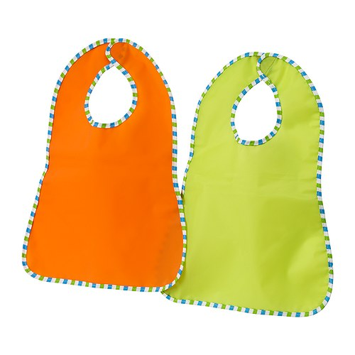 KLADD randing bib,green,orange 턱받이