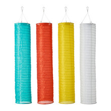 SOLVINDEN Solar-powered pendant lamp, cylinder assorted colours