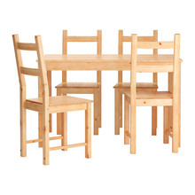 INGO/ IVAR Table and 4 chairs, pine  무료배송